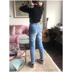 92223fec70 Levi s Everyday Patchwork Denim Skirt 25 Perfect 90 s London Jean high  waisted mom jeans ...